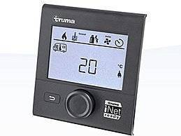 Das Truma CP plus iNet ready ist ein digitales Bedienteil für die Combi Heizungen und die Truma Klimaanlagen Aventa und Saphir. An ihm stellen Sie einfach und bequem die Raum- und Wassertemperatur in Ihrem Wohnwagen oder Reisemobil ein.Wenn Sie sowohl eine Truma Klimaanlage als auch eine Combi Heizung eingebaut haben, regelt die Klimaautomatik-Funktion die Temperatur im Fahrzeug automatisch – egal, ob es draußen warm oder kalt ist.Das digitale Bedienteil ist mit allen iNet-fähigen Truma Geräten kompatibel und kann für diese nachgerüstet werden. Darüber hinaus ist es mit der Truma iNet Box erweiterbar. Diese vernetzt die Truma Geräte, sodass Sie sie bequem per Smartphone-App von unterwegs steuern können.