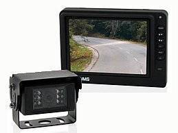 Preiswertes 13 cm Komplettset. Farbmonitor mit zwei Kameraeingängen. Farbkamera mit IR-Beamer und integrierter Sonnenblende für gute Sicht bei allen Lichtverhältnissen.
