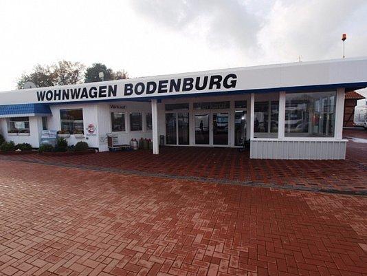 Eingang von Wohnwagen Bodenburg
