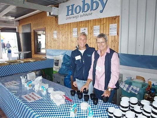 Hobby war als Aussteller vor Ort bei der Jubiläumsfeier von Wohnwagen Bodenburg.