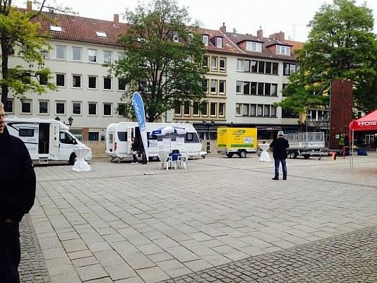 Foto von der Automeile in Hildesheim 2014