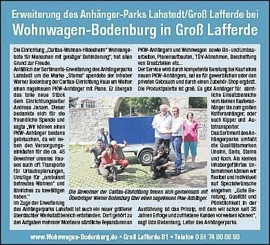 Erweiterung des Anhänger-Parks Lahstedt/Groß Lafferde beiWohnwagen-Bodenburg in Groß Lafferde